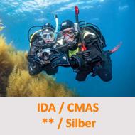 Tauchcenter-Wuppertal-Meeresauge-Tauchen-lernen-Fortgeschrittene-IDA-CMAS-Silber